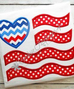 flag-heart-applique