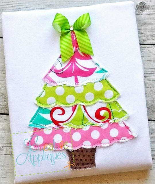 raggy christmas tree applique - Christmas Tree Applique