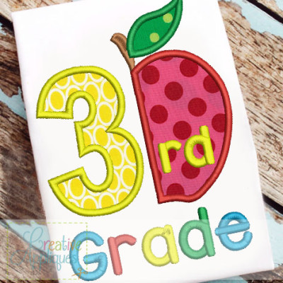 3rd-grade-apple-applique