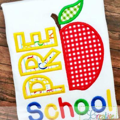 preschool-apple-applique