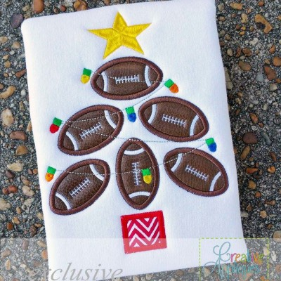 football-tree-applique