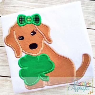 dog-clover-applique