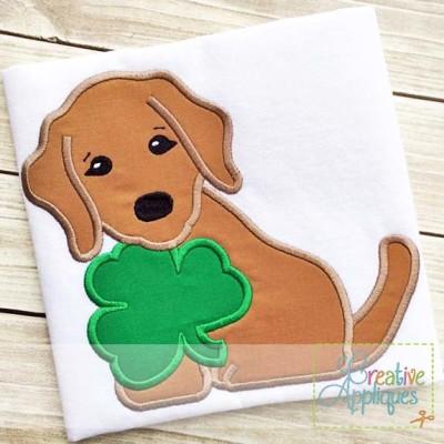 dog-shamrock-applique