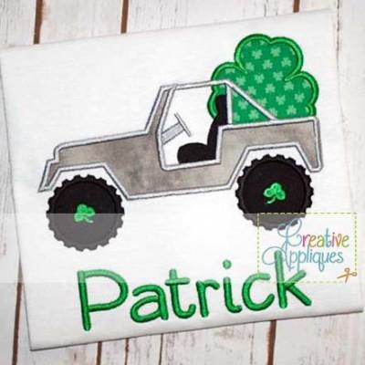 st-patrick's-jeep-shamrock-clover-applique