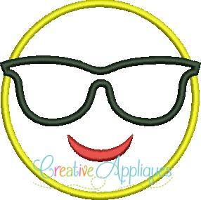 Emoji With Sunglasses  emoji sunglasses applique creative appliques