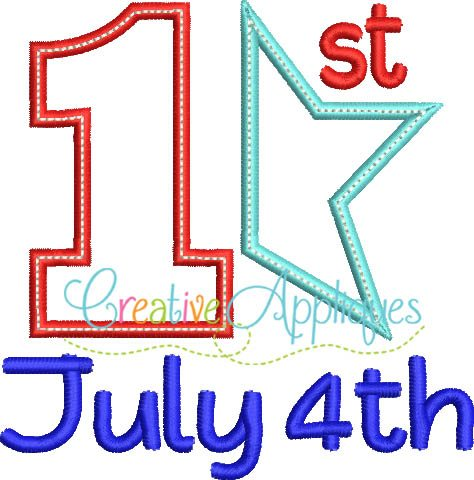 1st-first-fourth-4th-of-july-embroidery-applique-design
