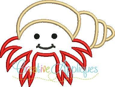 Hermit-Crab-sand-crab-applique-design