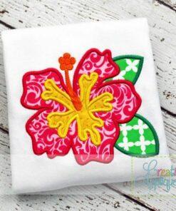 hibiscus-applique-design