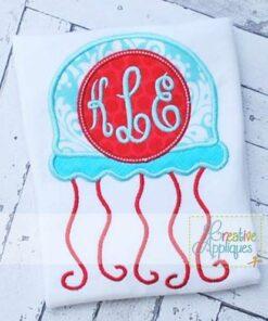 jellyfish-monogram-applique-design
