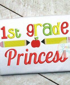 1st-first-grade-princess-embroidery-design