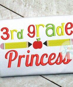 3rd-third-grade-princess-embroidery-design