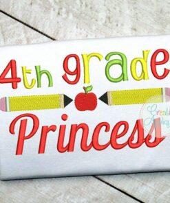 4th-fourth--grade-princess-embroidery-design