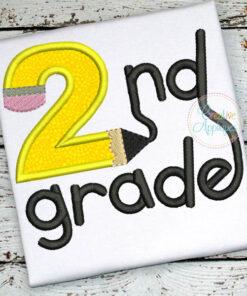 2nd-second-grade-pencil-embroidery-applique-design