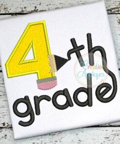 4th-fourth-grade-pencil-embroidery-applique-design