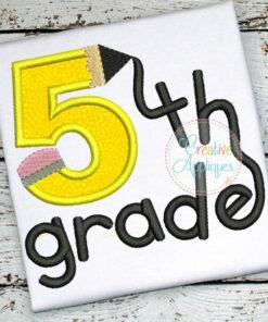 5th-fifth-grade-pencil-embroidery-applique-design