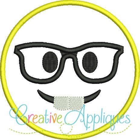 Emoji-Nerd-glasses-emoticon-embroidery-applique-design