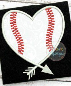 arrow-baseball-heart-embroidery-applique