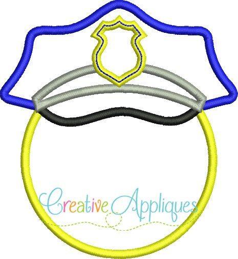 police-hat-monogram-embroidery-applique-design