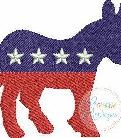 democrat-donkey-miniature-fill-stitch-embroidery