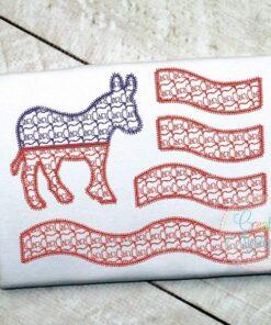 donkey-democratic-flag-embroidery-applique-design