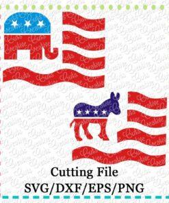 flag-democratic-republican-svg-cutting-file