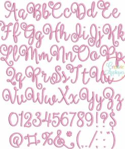 ballerina script embroidery font carried away embroidery font alphabet