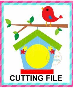 Monogram Birdhouse SVG cut file