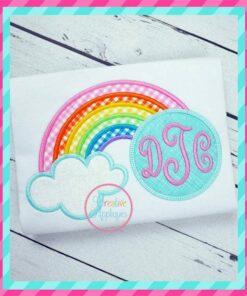 monogram embroidery applique design