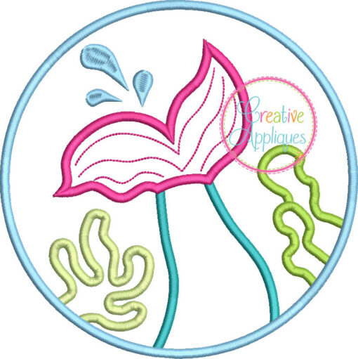 mermaid-tail-circle-embroidery-applique-design-creative-appliques