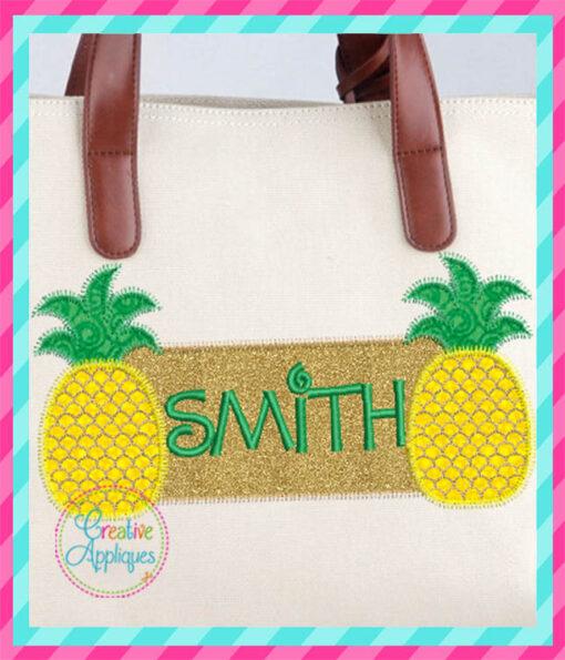 pineapple-frame-embroidery-applique-design-creative-appliques